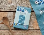 Fish Illustration Cotton Tea Towel