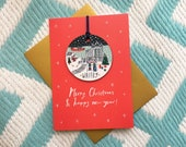 Whitby Christmas Decoration Card