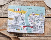 Whitby Map Melamine Placemat