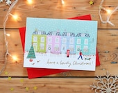 London Houses Christmas Card Pack