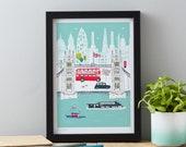 Tower Bridge London Art Print