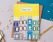 Building Illustration Greeting Card