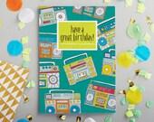 Birthday Boombox Greeting card