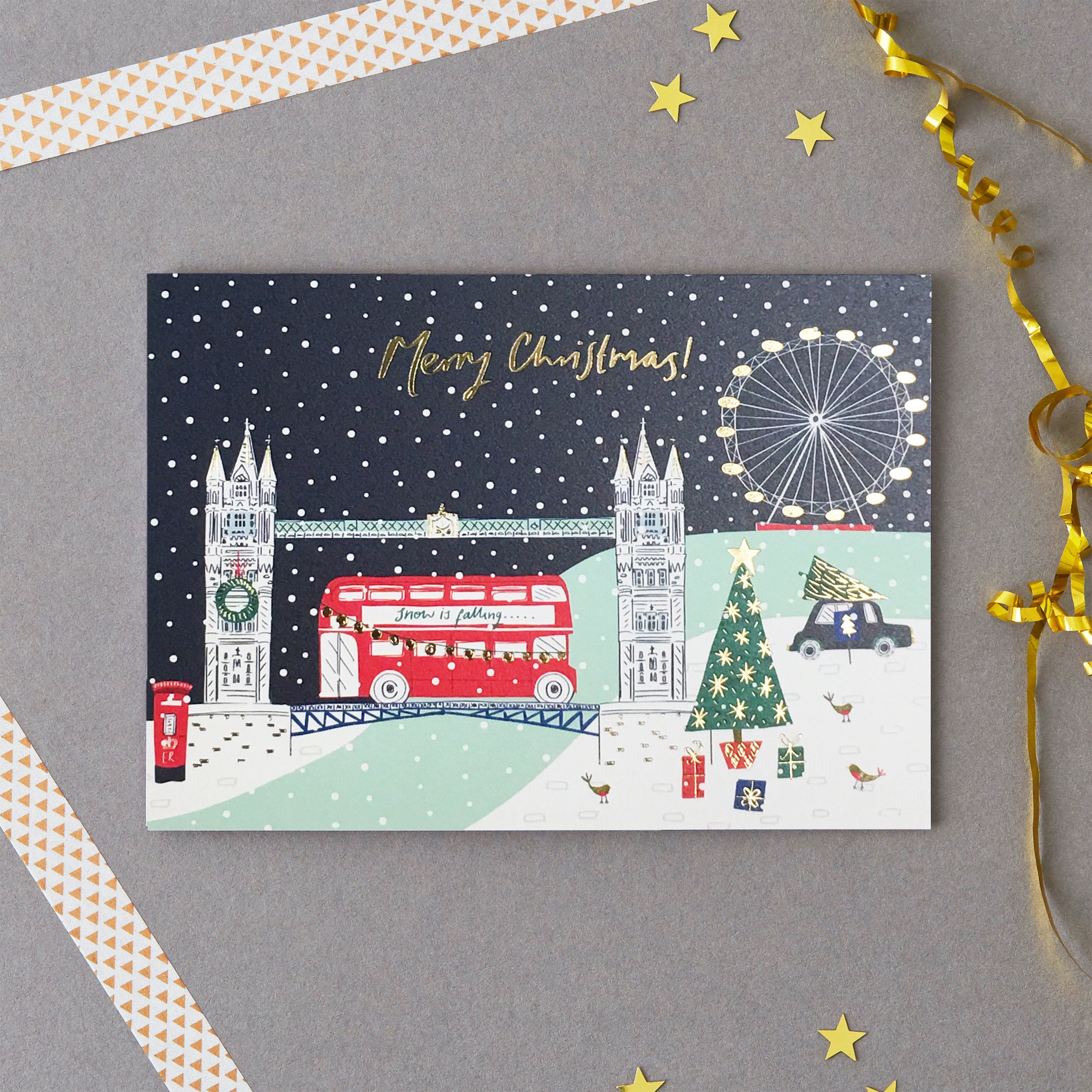 London Christmas Card Pack Christmas Cards Holiday Card | Etsy