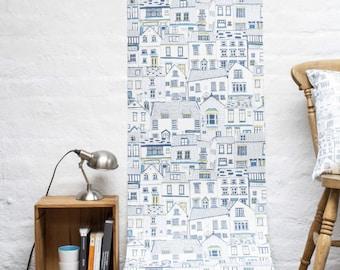Coastal Cottages Wallpaper Sample