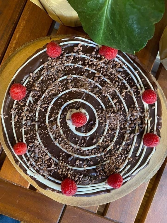 """Vegan Gluten Free  Chocolate raspberry  cheesecake  8"""""""