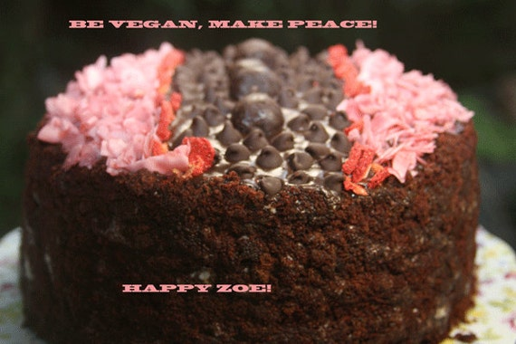 Vegan Black Forest delicious chocolate cake!