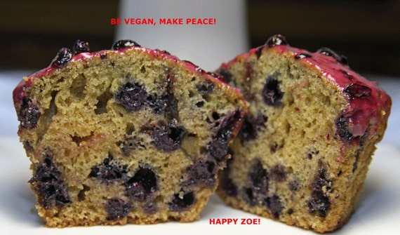 Vegan Wild Blueberries muffins 6 pcs plant based, birthday, lunch