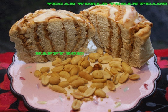 Vegan Peanut Butter Buns with Roasted Peanuts 5 pcs!