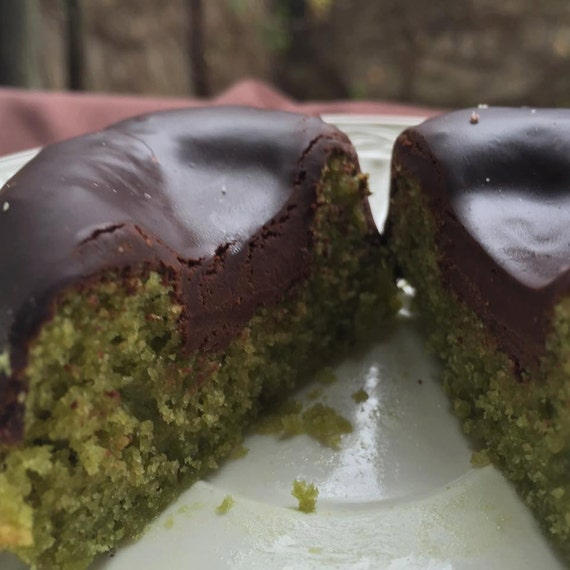 Vegan Gluten free  Matcha  Green Tea Dark Chocolate  donuts 6pcs