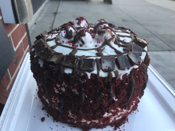 Vegan Red Velvet  birthday cake,no eggs,no dairy.