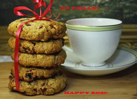 Vegan Cranberry Orange Walnut cookies, love, natural,healthy ingredients,wedding,birthday.