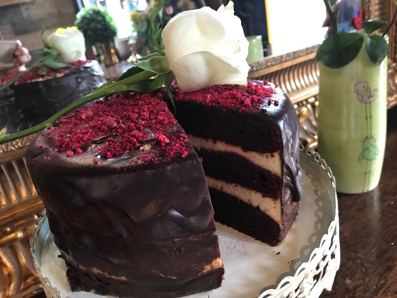 Fantastic Vegan Red Velvet Chocolate Raspberry Birthday Cake 8 No Eggs No Personalised Birthday Cards Paralily Jamesorg