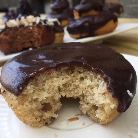 Vegan Gluten free  Vanilla Peanut butter Chocolate donuts 6pcs