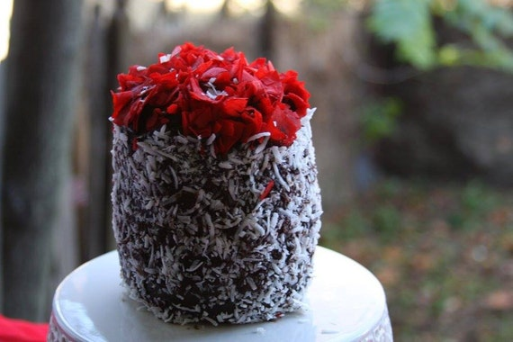 Vegan Mini Chocolate Mocha Coconut cake, Natural,healthy ingredients,Love and Compassion,Birthday,Wedding.