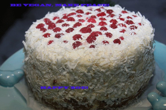 Vegan Snowflake Vanilla Coconut Cake, love, animal free cruelty,no eggs,no dairy.