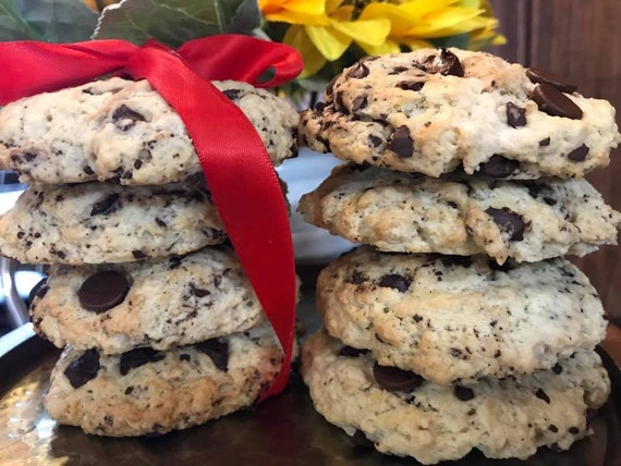 Vegan  Vanilla Dark chocolate chunk  cookies 10 pcs