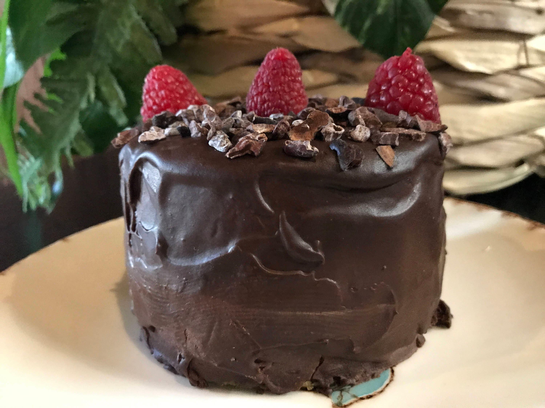 Vegan Gluten Free Matcha Dark Chocolate Mini Birthday Cake