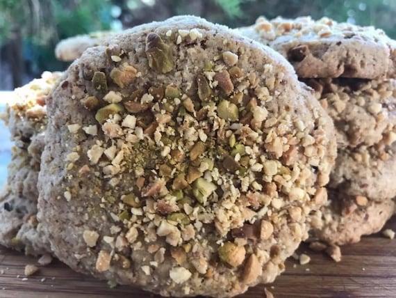 Vegan  Peanut Vanilla  cookies 10 pcs