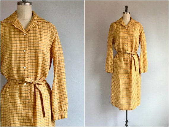 Vintage 1970s Wool Dress / 70s Donald Davies Handw