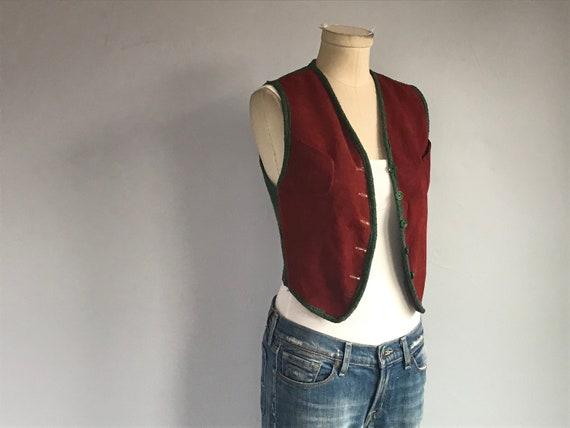 Vintage 1940s Suede Vest /  40s Tish-u-Knit by Leo