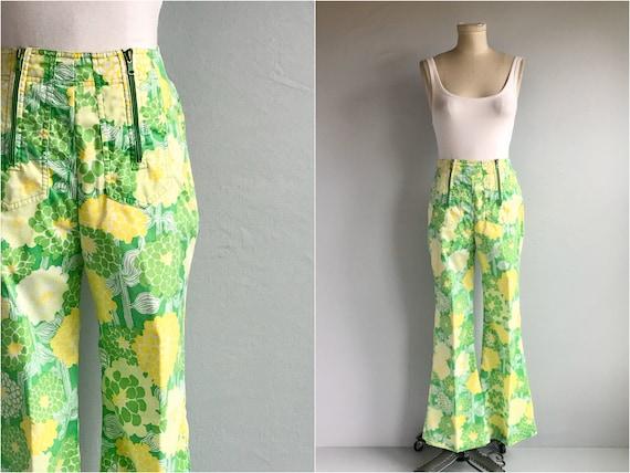 Vintage 70s Lilly Pulitzer Pants / 1970s Mod Flora