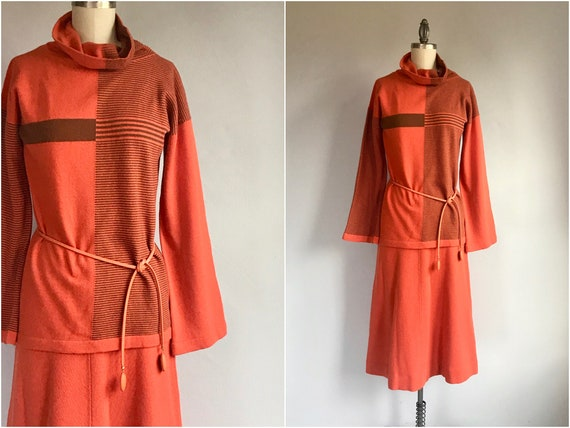Vintage 70s Bonnie Cashin Sweater Dress / 1970s De