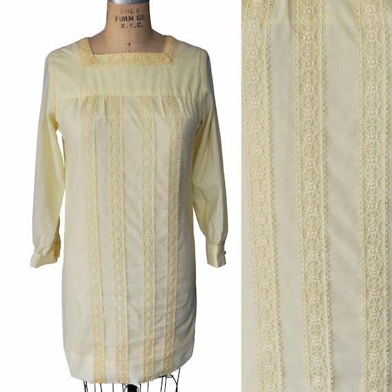 Vintage 60s Ain R Jr. Butter Yellow Mod Dress - image 1