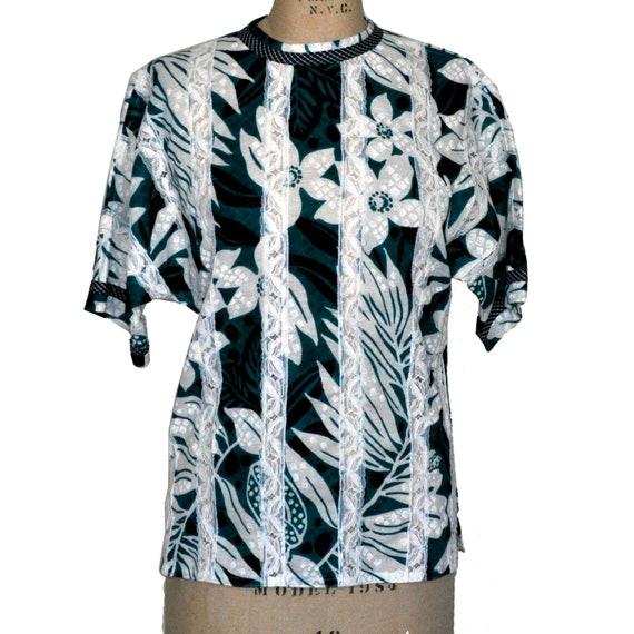 Vintage Koos Van Den Akker Couture Lace Floral Top