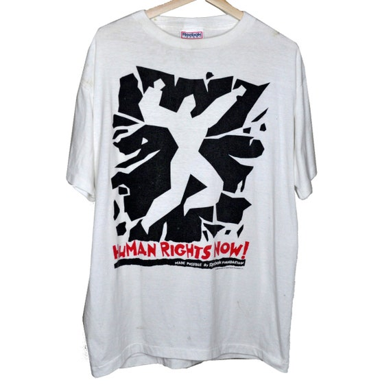 Vintage 1988 Human Rights Now! Tour T-shirt sponso