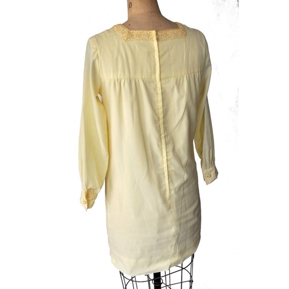 Vintage 60s Ain R Jr. Butter Yellow Mod Dress - image 3