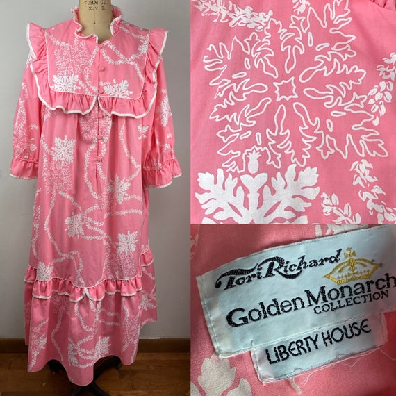 Vintage Pink Liberty House Tori Richard Ruffled Ma