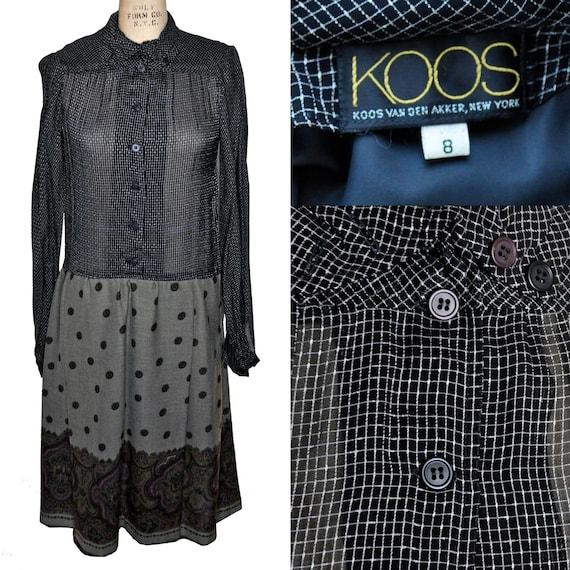 Vintage 90s Koos Van Den Akker Sheer Shirtwaist Dr