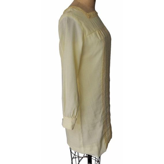 Vintage 60s Ain R Jr. Butter Yellow Mod Dress - image 2