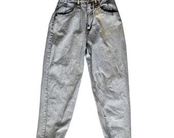 Vintage 80s Size 11 Light Acid Wash High Rise Jeans NOS Deadstock Jennifer Eden