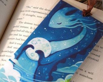 Moon Dragon Bookmark, Illustrated bookmark,  unique bookmarks