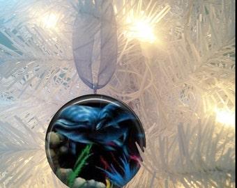 Dolphins #3 Sealife Christmas Tree Ornament