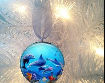 Dolphins #5 Sealife Christmas Tree Ornament