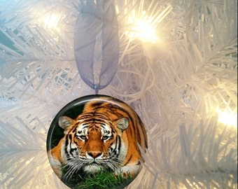 Tiger #5 Christmas Tree Ornament