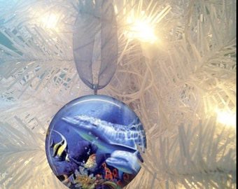 Dolphins #2 Christmas Tree Ornament