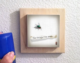 Fly On The Wall, The Things I've Seen, The Things I've Heard, humor, housewarming, office, bathroom, wall art