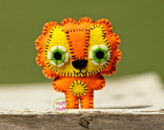 Felt Tangerine Lion - Pocket Plush Toy
