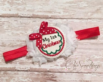 First Christmas headband, my 1st christmas bow, 1st christmas headband, christmas bow, my first christmas headband, my 1st christmas bow