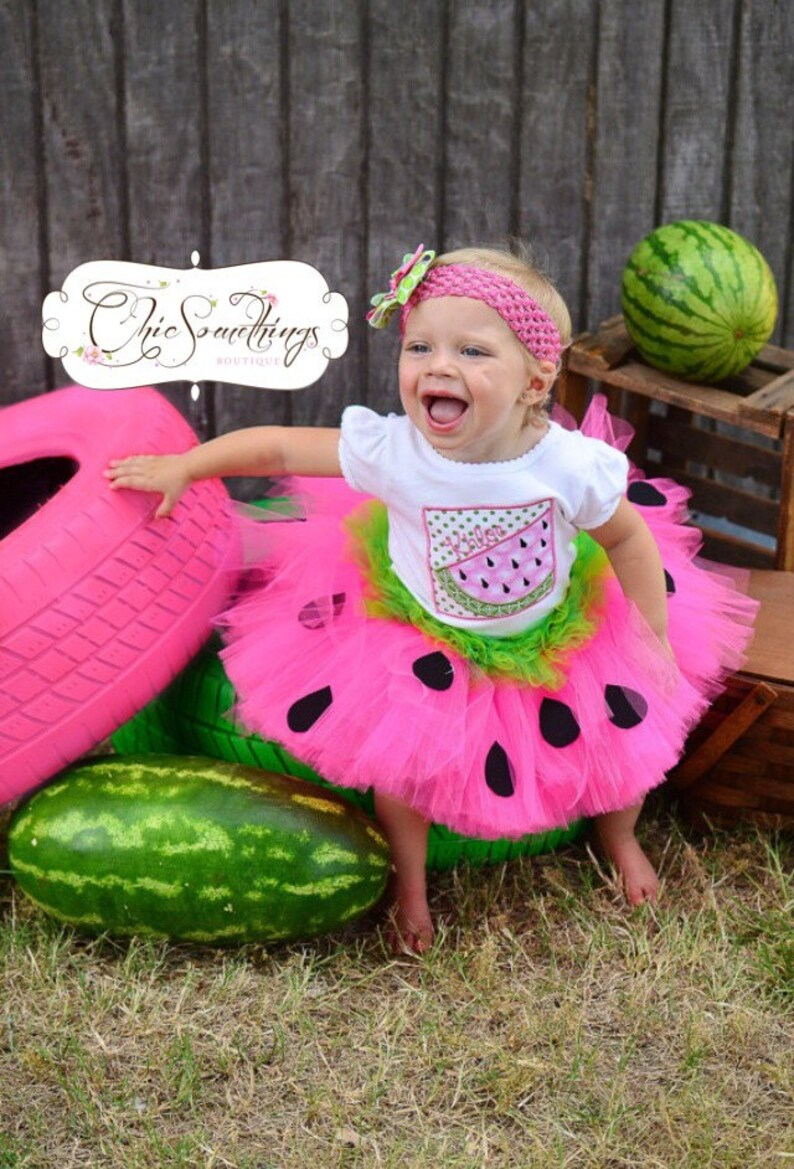 Watermelon Birthday Tutu First Birthday baby tutu watermelon image 0