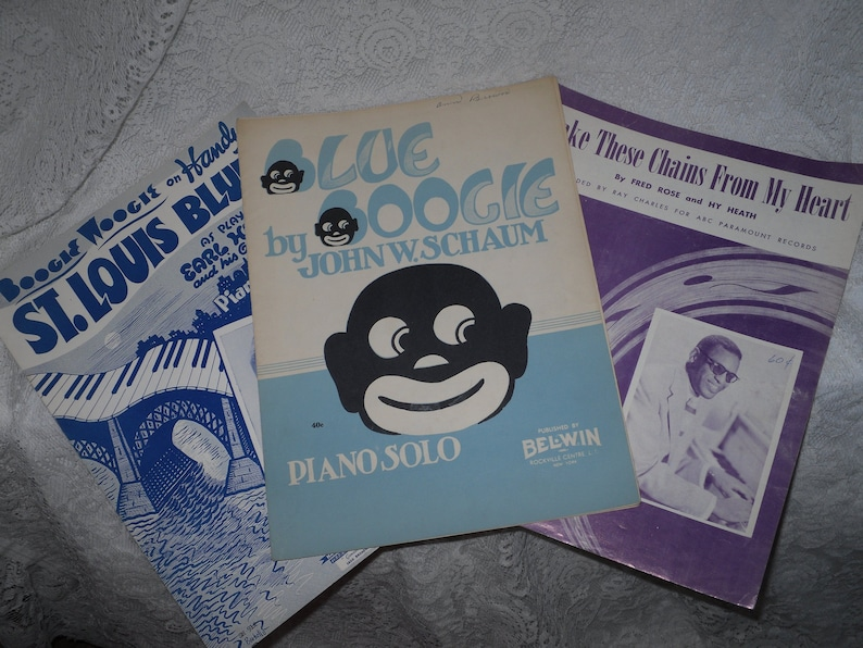 Blues Sheet Music Boogie Woogie Piano Songs Schaum Hines Charles Vintage Lot