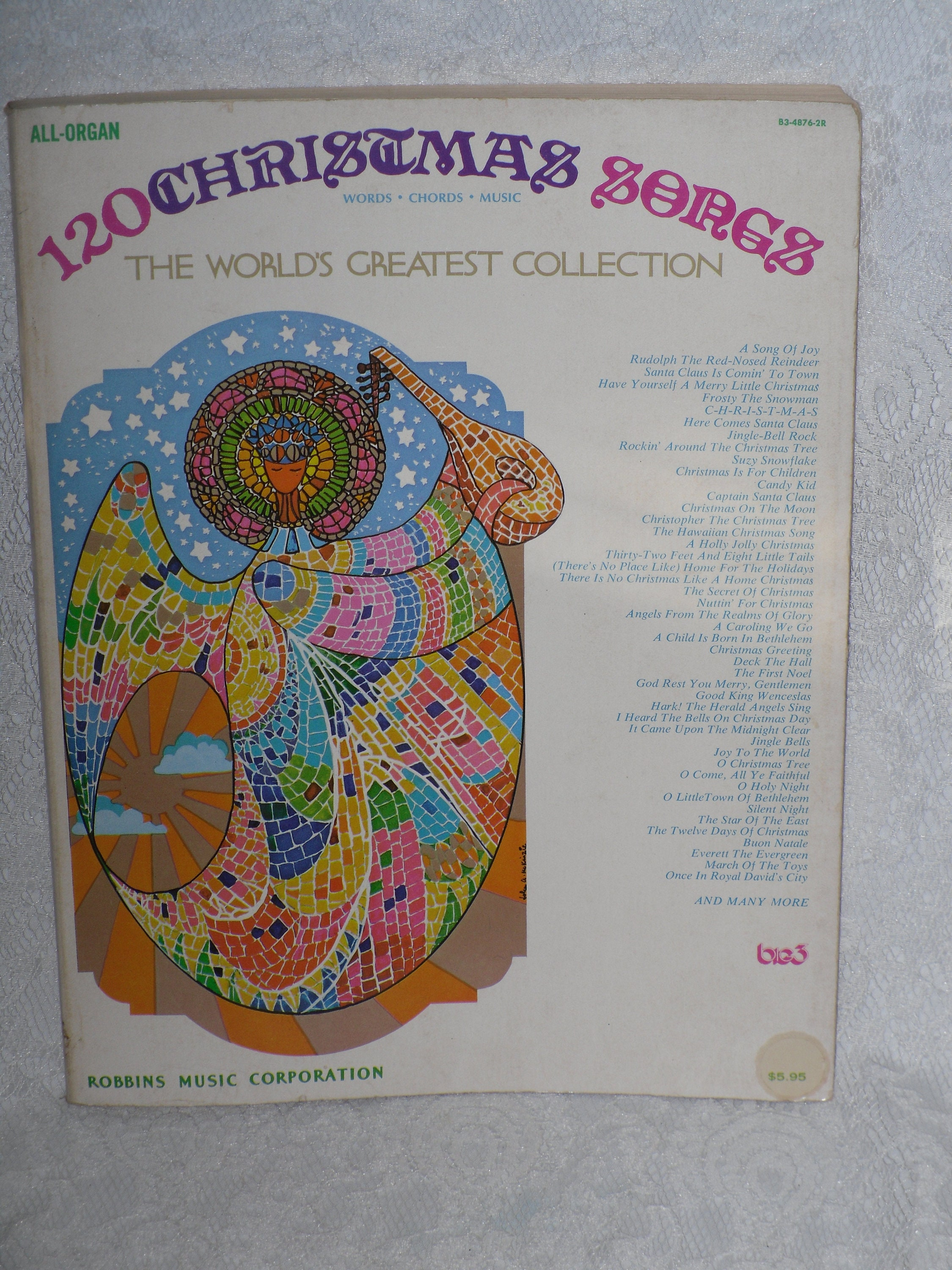 120 Christmas Songs for Organ Songbook Words Chords Vocal   Etsy