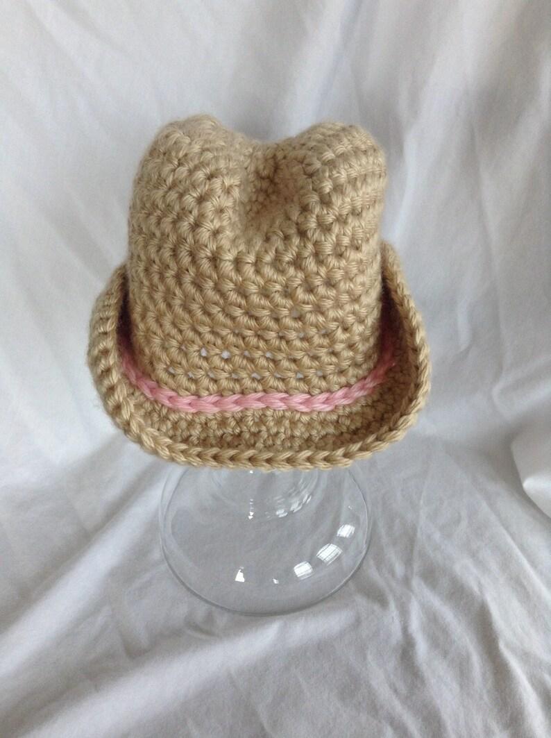 Baby Girl Cowboy Hat Crochet Etsy