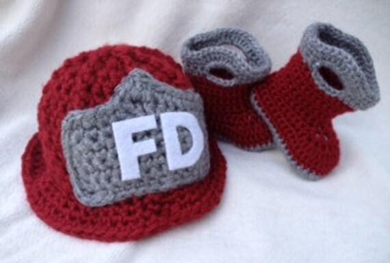 Feuerwehrmann Hut Feuerwehr Stiefel Baby Boy Baby Mädchen Etsy