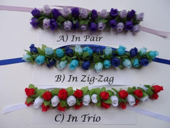 SALE Medium Rosebuds Bun Wrap Bun Wrap 24 Colors Flower | Etsy