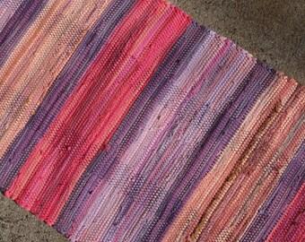 """21"""" x 45"""" Art For Your Floor Handwoven Accent Rag Rug"""